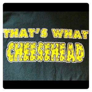 Novelty Green Bay Packers cheesehead t shirt